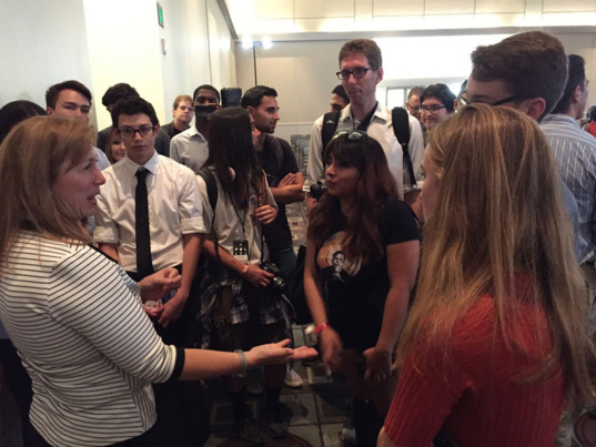 Lori Garver shares with young people at Politicon