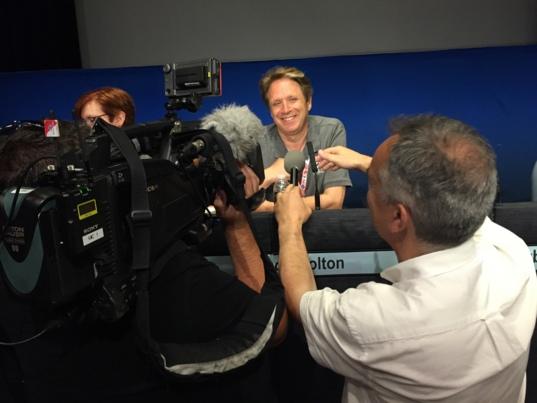 Juno mission Principal Investigator Scott Bolton after the spacecraft achieved orbit