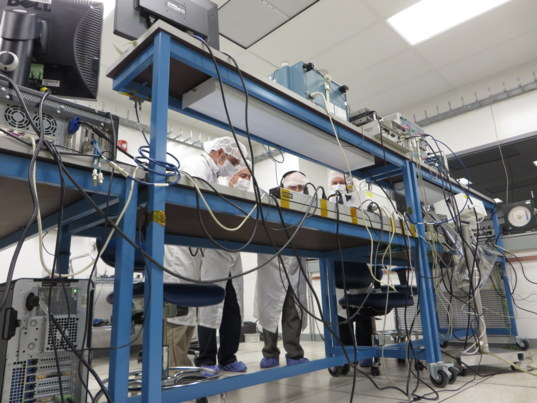 Workbench in a TDS clean room at JPL