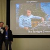 Bill Nye and Barbara Plante