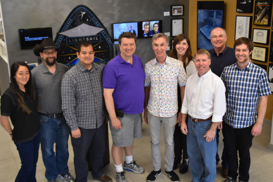 LightSail 2 pre-ship review team photo