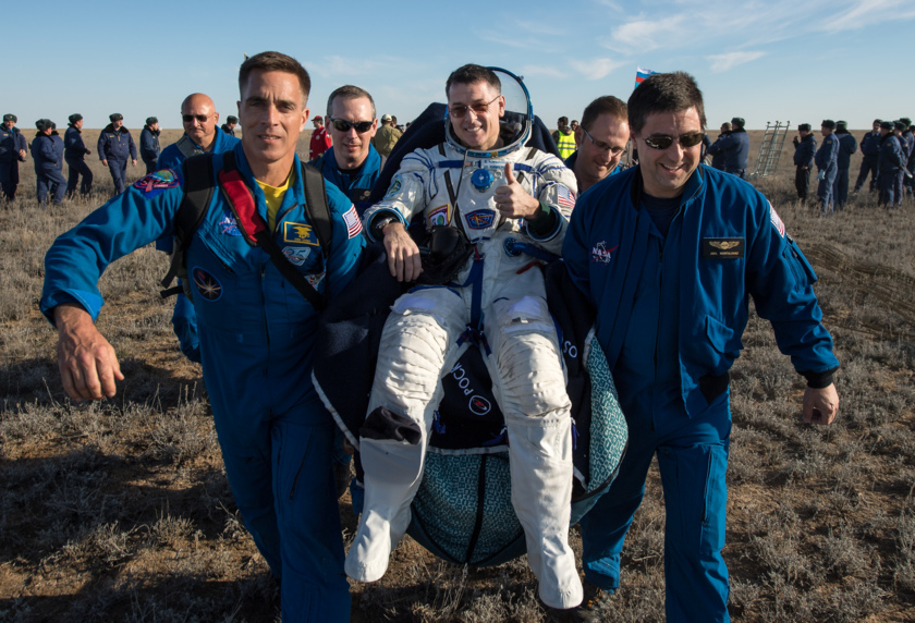 Astronaut Shane Kimbrough gets a lift