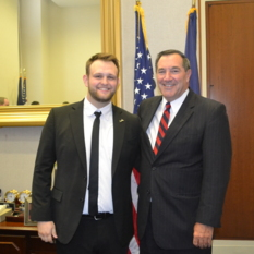 Aaron Campbell and Senator Donnelly (D-IN)