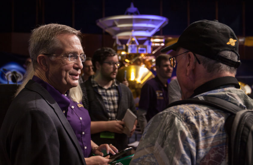 Cassini Program Manager Earl Maize talks with Mat Kaplan