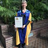 Emily Lakdawalla with The Open University honorary degree