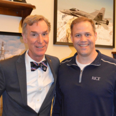 Planetary Society CEO Bill Nye with Congressman Jim Bridenstine
