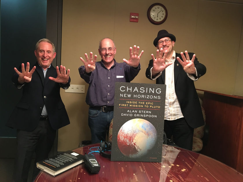 Alan Stern, Mat Kaplan, and David Grinspoon