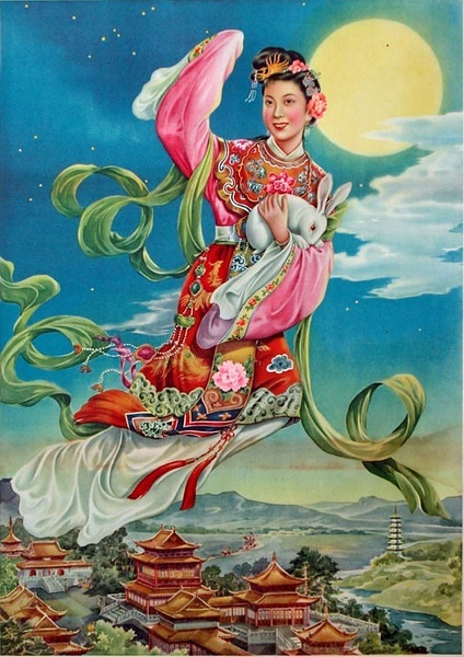 Chang'e flying to the Moon