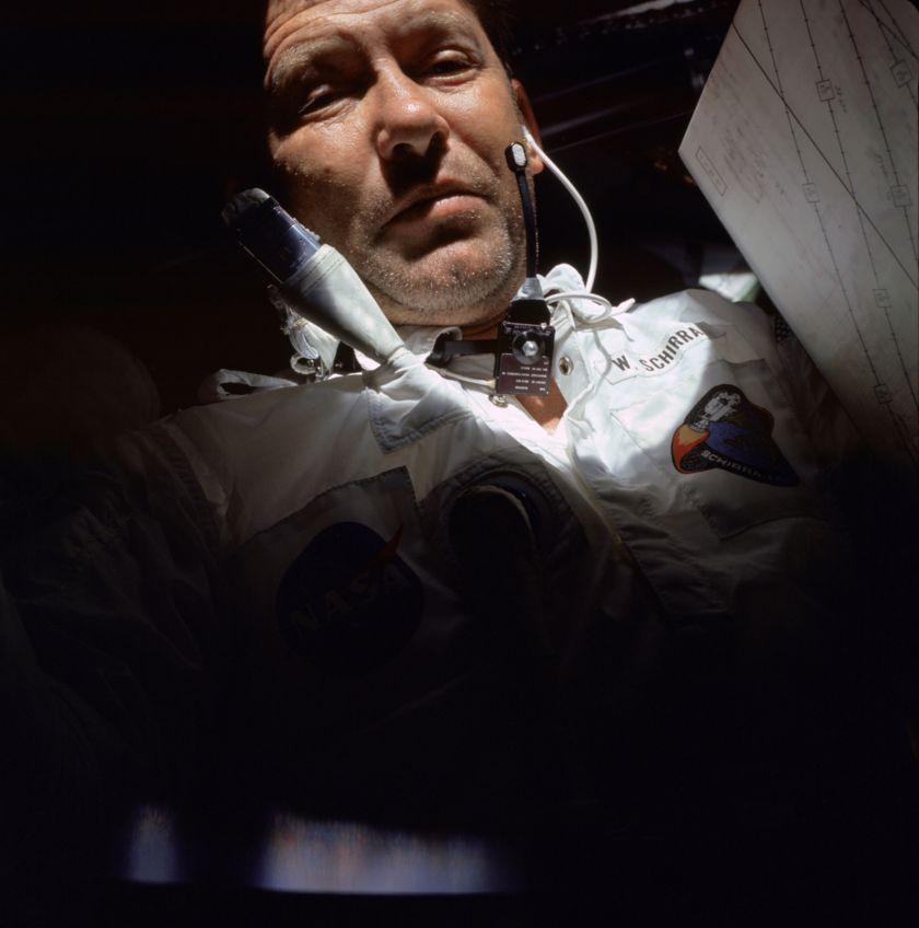 Wally Schirra during Apollo 7