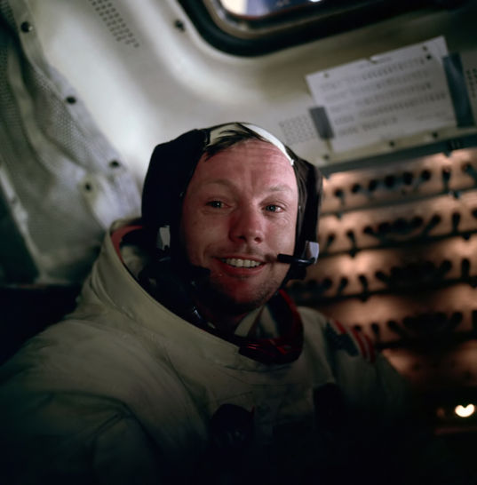 Neil Armstrong after his historic first moon walk