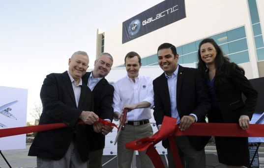Ribbon cutting at new Virgin Galactic facility