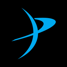 TPS logo - planetary blue on black background