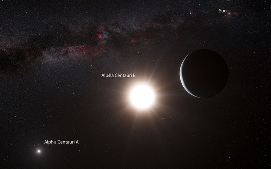 First planet discovered orbiting Alpha Centauri B (artist's concept)