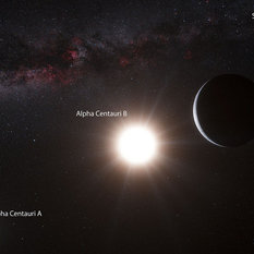 First planet discovered orbiting Alpha Centauri B (artist's concept)