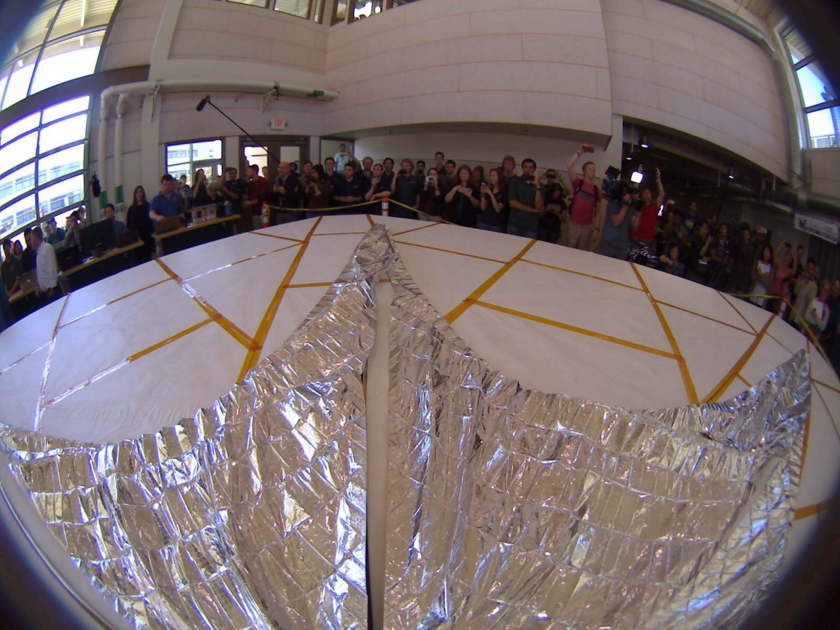 LightSail 2 sail deployment test from -X camera