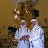 Charley Kohlhase and Richard Spehalski with Cassini and the DVD