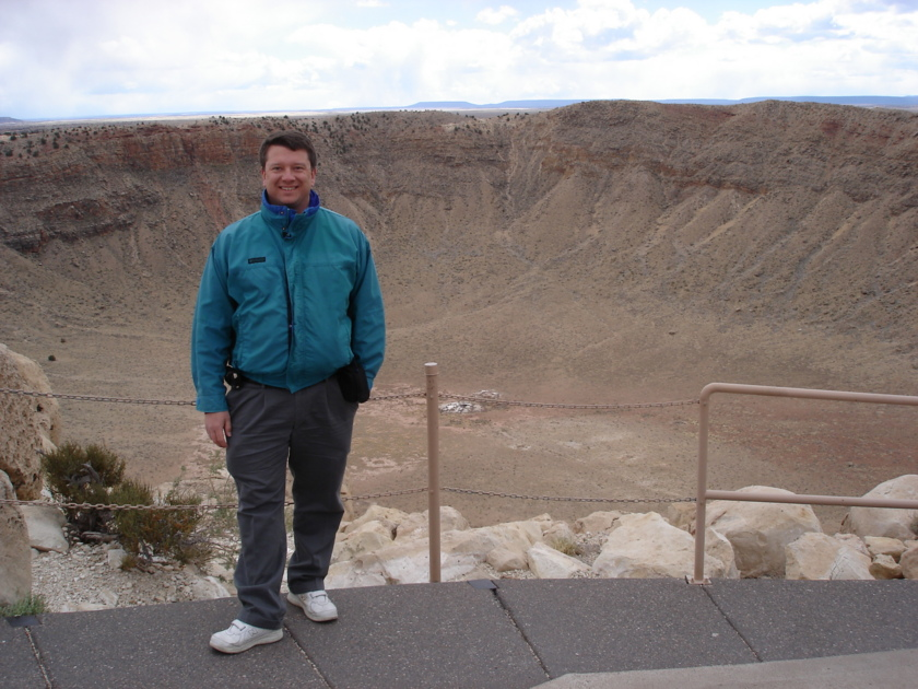 Bruce Betts at Meteor Crater