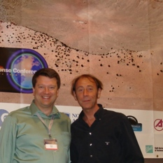 Jaime Nomen and Bruce Betts at Planetary Defense Conference 2013