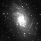 First light image of the M33 galaxy from the 0.76m (30 in) telescope at the Astronomical Research Institute in Illinois, USA