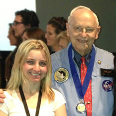 MaryAnn Bulawa with Alan Bean