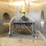 PlanetVac system on Mars soil simulant