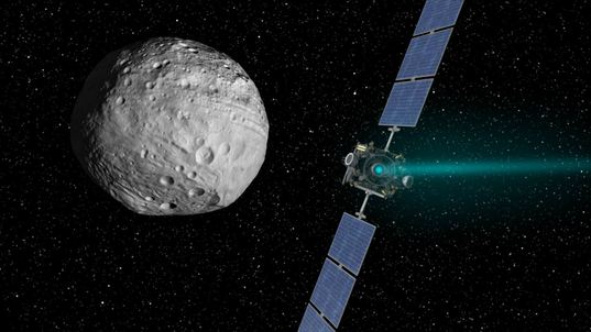 Dawn departs Vesta