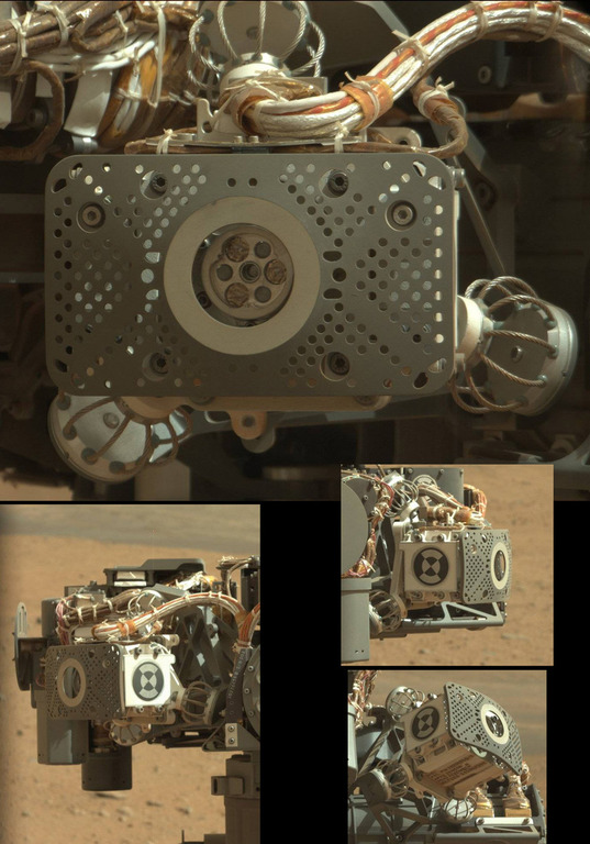 Curiosity's Turret: APXS detail views
