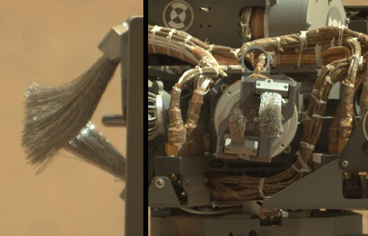 Curiosity's Turret: Dust Removal Tool (DRT)