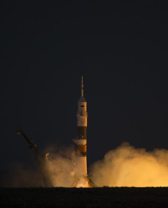 Soyuz TMA-07M lifts off