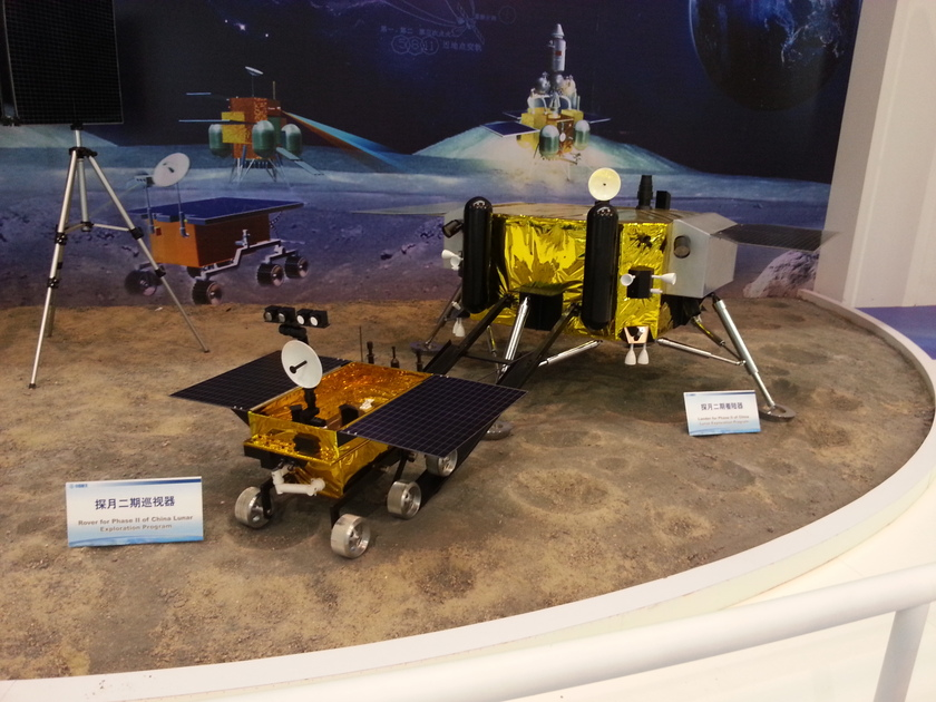 Model of Chang'E 3 lunar lander and rover