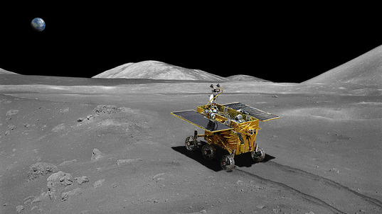 Artist's concept of Chang'e 3 rover on the Moon