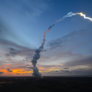 Ariane 5 in French Guiana twilight