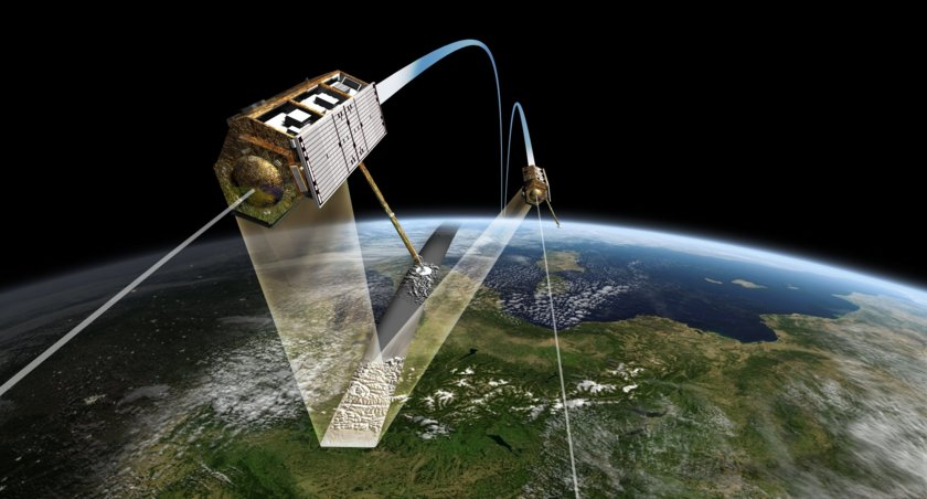 TanDEM-X and TerraSAR-X fly in formation to map Earth's topography