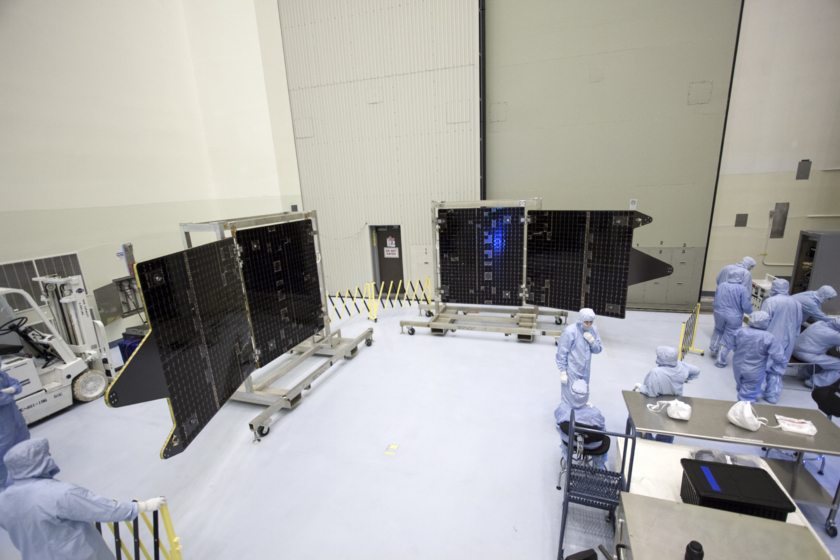 Test-deploying MAVEN's solar panels, August 20, 2013