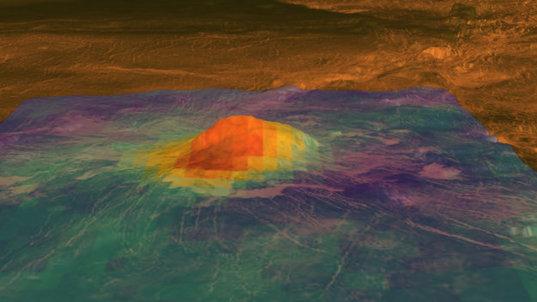 Venus' Idunn Mons volcanic peak