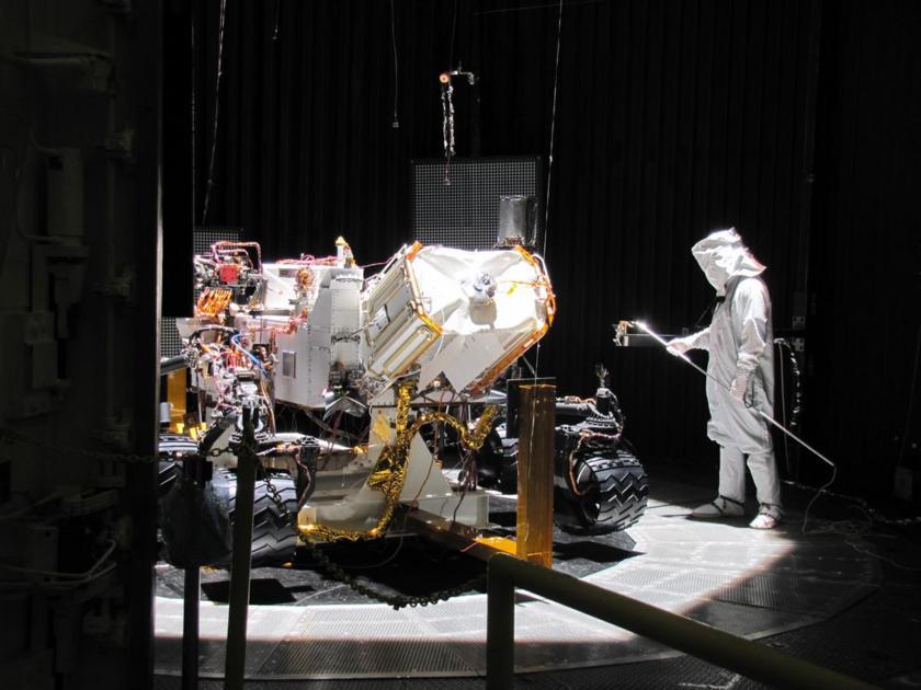 Curiosity undergoing environmental testing