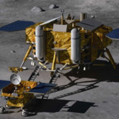 Chang'e 3 lunar lander and rover
