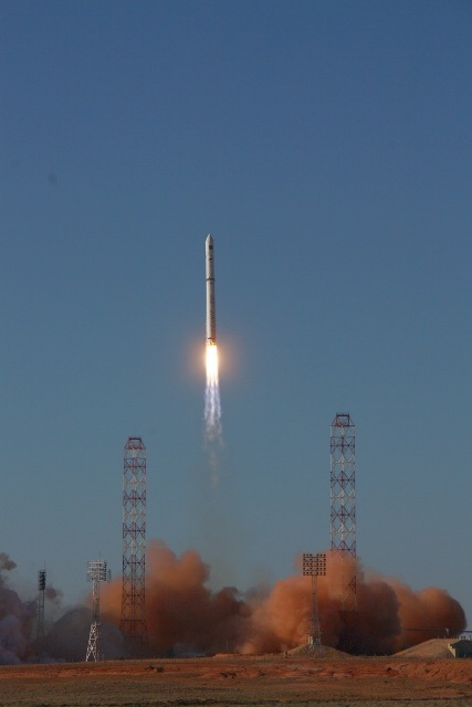 Spektr-R (RadioAstron) lifts off