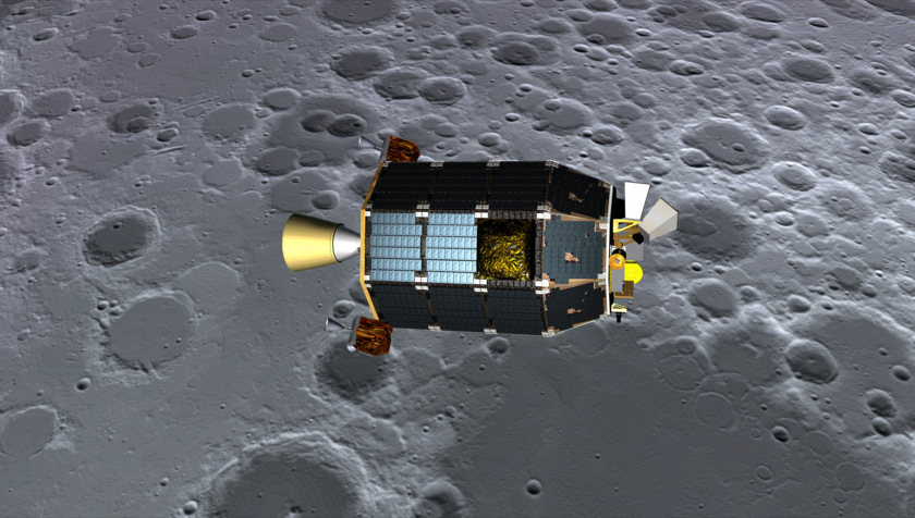 LADEE above the lunar surface