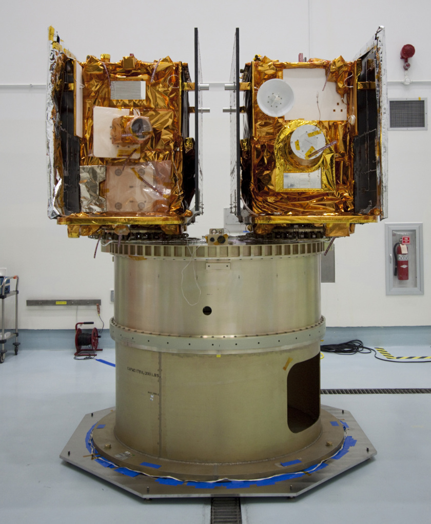 Twin GRAIL spacecraft preparing for launch