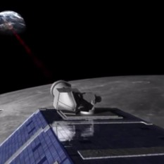 Lunar Laser Communication Demonstration in action