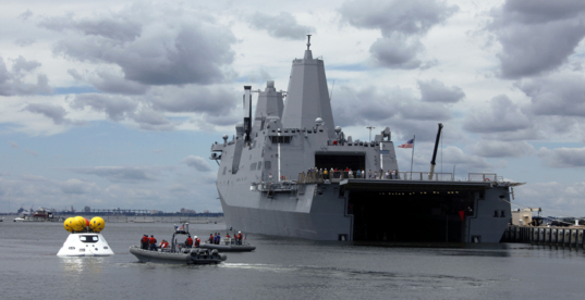 Orion recovery training at Naval Station Norfolk