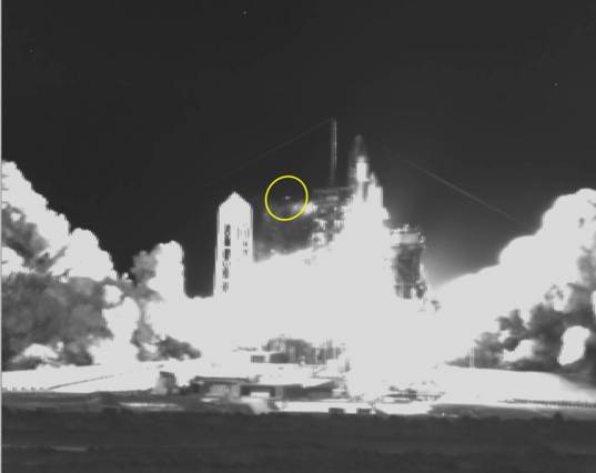 "Infrared video of ""high flier"" debris"