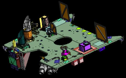 OSIRIS-REx forward deck