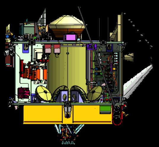 OSIRIS-REx forward and aft deck connections