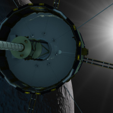ISEE-3 swings by the moon
