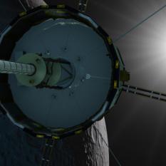 ISEE-3 swings by the moon