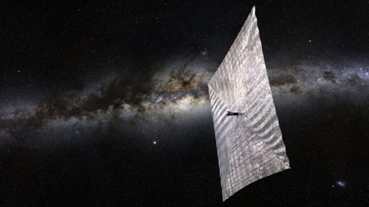 LightSail and the Milky Way (artist's rendition)