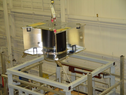 OSIRIS-REx at the static test fixture