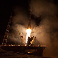 Soyuz TMA-14 liftoff
